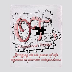 ot puzzle pink Throw Blanket