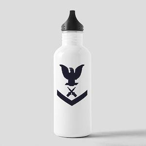 USCG-RANK-GM3-Blue- Stainless Water Bottle 1.0L
