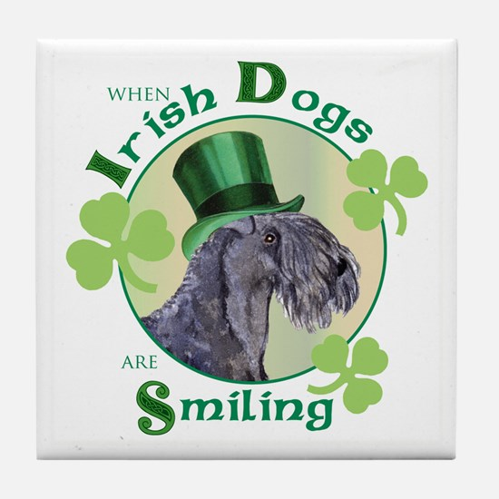 St. Patrick Kerry Blue Tile Coaster