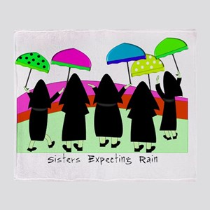 Sisters Expecting Rain II Framed Throw Blanket