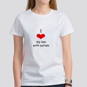 I love my son with autism white T-Shirt