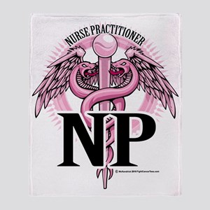 NP-PINK-Caduceus Throw Blanket
