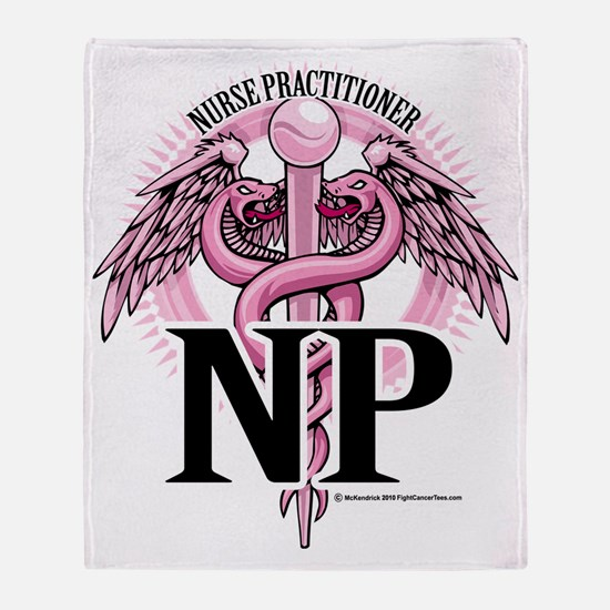 NP-PINK-Caduceus Throw Blanket