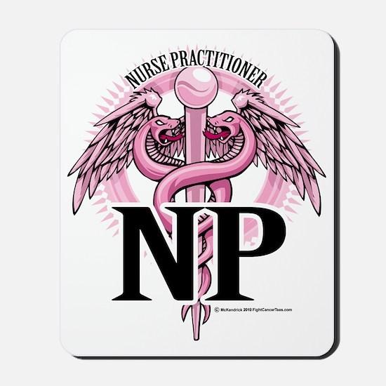 NP-PINK-Caduceus Mousepad
