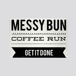 Messy Bun Coffee Run Magnets