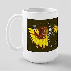 """""""Just flowers"""" Large Mug"""