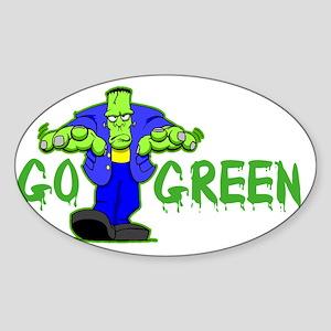 Go_Green_Frank_dark Sticker (Oval)