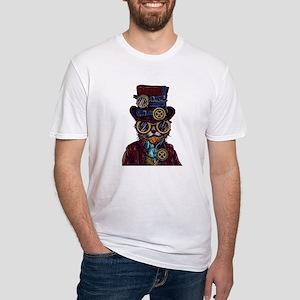 Steampunk Cat Illustration T-Shirt