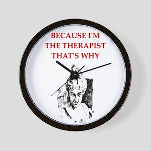 therapist joke gifts t-shirt Wall Clock
