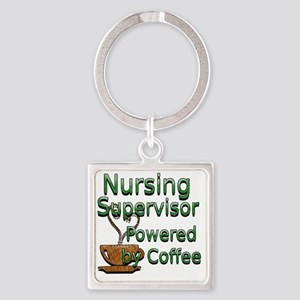 coffee nursing supervisor Square Keychain