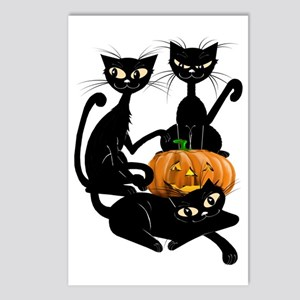 Three Black Kitties and a Postcards (Package of 8)