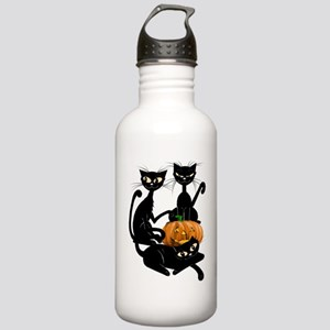 Three Black Kitties an Stainless Water Bottle 1.0L
