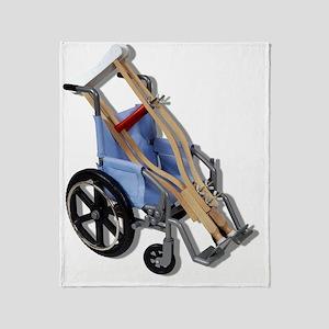 CrutchesWheelchair081210 Throw Blanket