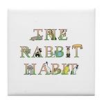 Rabbit Habit Tile Coaster