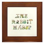 Rabbit Habit Framed Tile