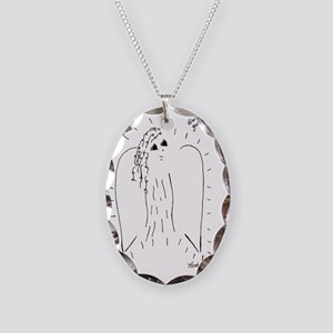 Divine Guidance Angel Necklace Oval Charm