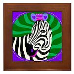 zebra Framed Tile