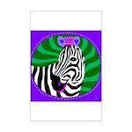 zebra Mini Poster Print