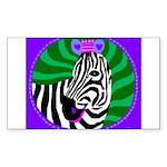 zebra Rectangle Sticker
