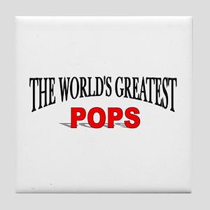 """The World's Greatest Pops"" Tile Coaster"