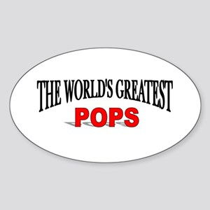 """The World's Greatest Pops"" Oval Sticker"