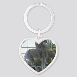 End of the Trail Heart Keychain