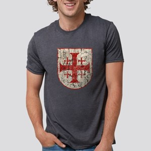 Jerusalem Cross, Distressed T-Shirt