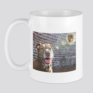 Pit bull dreaming Mug