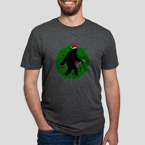Sasquatch Christmas Wreath T-Shirt
