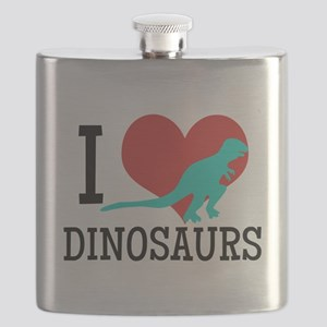 I Love Dinosaurs Flask