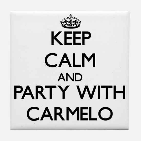 Keep Calm and Party with Carmelo Tile Coaster