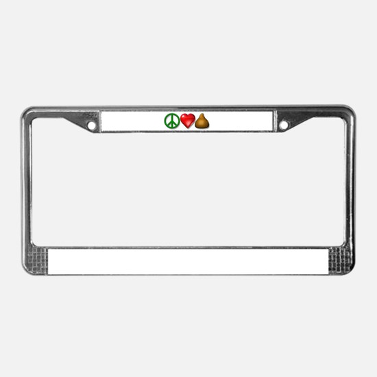 P, L, & C icons License Plate Frame