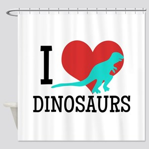 I Love Dinosaurs Shower Curtain