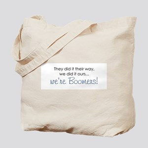 baby boomers rule novelty  Tote Bag