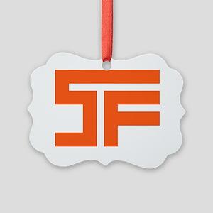 SF_orange02_white outline Picture Ornament