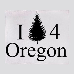 IPine4Oregon Throw Blanket