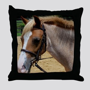 StrawberryTshirtFace Throw Pillow