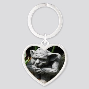 gargoyle Heart Keychain