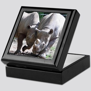 2 rhino Keepsake Box
