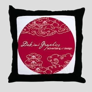 Dakini Graphics round clouds Throw Pillow