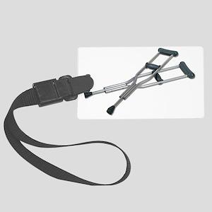 MetalCrutches082010 Large Luggage Tag