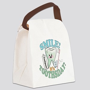 SmileItsToothsday Canvas Lunch Bag
