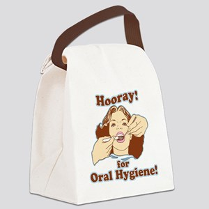 Hooray for Oral Hygiene Retro Col Canvas Lunch Bag