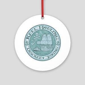 keel-hauling-T Round Ornament