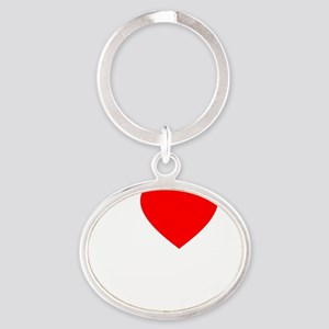 Heart Rafa -dk Oval Keychain