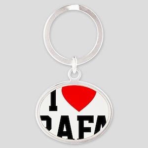 Heart Rafa Button Oval Keychain