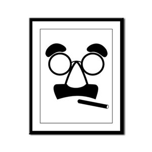 Marx Moustache Framed Panel Print