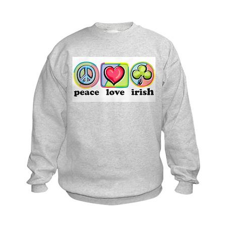 Peace Love Irish Kids Sweatshirt