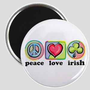 Peace Love Irish Magnet