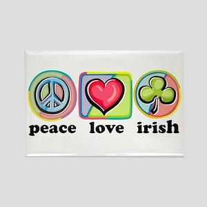 Peace Love Irish Rectangle Magnet